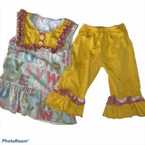 Tutu & Lulu Ruffle Alphabet Dress with Pants